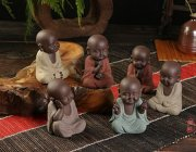 BG016 Porcelain Little Monk Car Ornaments