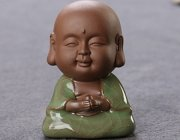 BG015 Porcelain Little Monk Car Ornaments