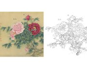 AP002 Tracing Copy of Flower & Bird