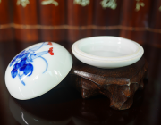 YH001 Hmay Porcelain Box for Seal Ink Cinnabar